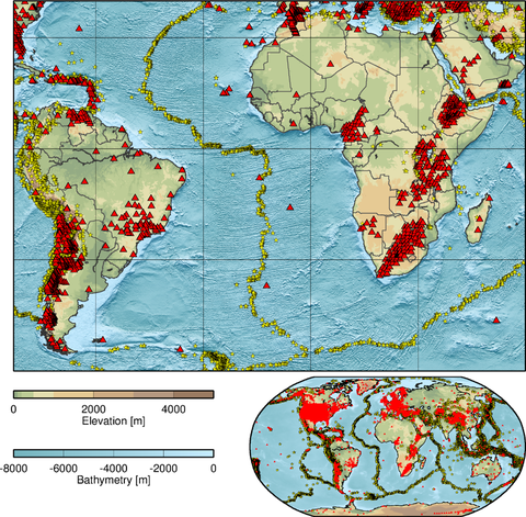 Seismoloigcal stations in Africa