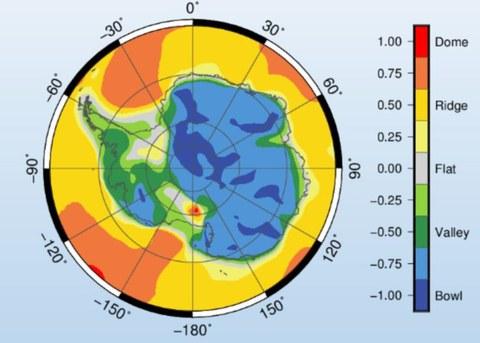 Shape index of Antarctica